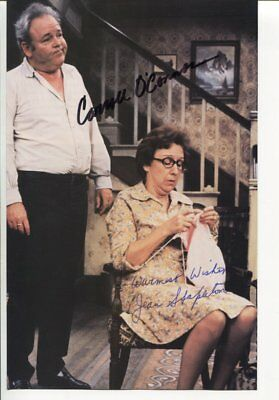 all in the family CARROLL O'CONNOR & JEAN STAPLETON autograph HAND SIGNED 1873