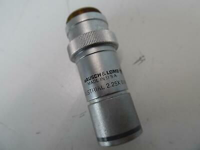 Bausch & Lomb Industrial 2.25 X 0.04 Na Microscope Objective