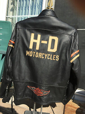 NWOT Limited Harley Davidson Mens Classic Leather Motorcycle Jacket Sz (L) RARE