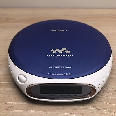 Sony Cd Walkman D-EJ361 Disc Disk Discman TESTED WORKING