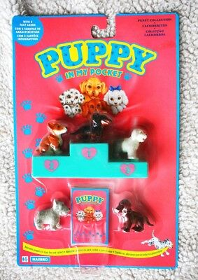 PUPPY IN MY POCKET SET (HASBRO, 1993. Ver1). 5 Fact Cards, BRAND NEW OLD STOCK!