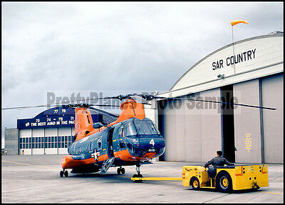 USN CH-46 Sea Knight Helicopter Whidbey Island 1981 5x7 Aircraft Photos