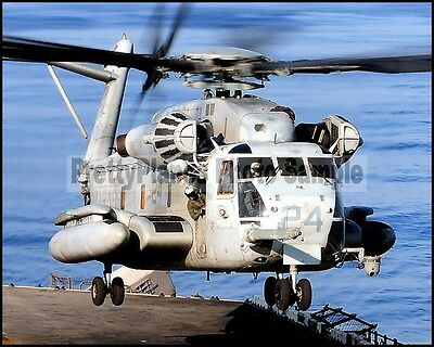 USN CH-53 Sea Stallion Helicopter HMM-262 Flying Tigers 2010 8x10 Photo