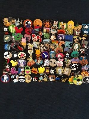 Disney Trading Pins Lot Of 100 -100% Tradable - No Duplicates - Fast U.s Shipper
