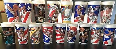 McDonalds Basketball Collector Cups - NBA Dream Team MVP Looney Tunes Lot 90s