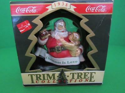 """Coca Cola Trim A Tree Collection """"Christmas Is Love"""" Hanging Ornament, 1991"""