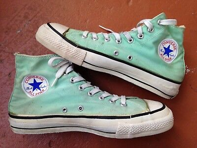 Vintage Converse Chuck Taylor Shoes Sea Foam Green Made In The USA Size 9