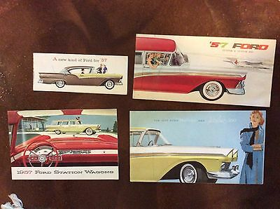 Ford 1957 Dlx And Std Plus Wagon Only Brochure Catalog Lot Of 4 No Reserve
