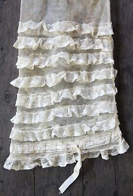 Precious Vintage Children's Crinoline in Antique Lace Mesh and Bow