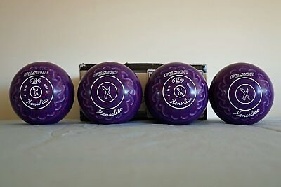HENSELITE FUSION Lawn Bowls, Size 4 heavy Gripped, WBS 23