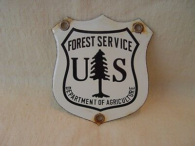 US Forest Service Department Of Agriculture Porcelain Advertising Shield Sign