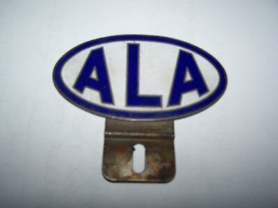 Vintage ALA Porcelain License Plate Topper