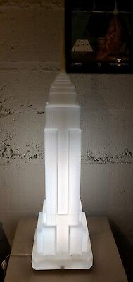 Streamline Art Deco Takahashi Denson Empire State Building Lamp Sculpture