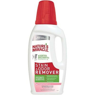Nature's Miracle Stain & Odor Remover Grapefruit Zest 32oz  Free shipping