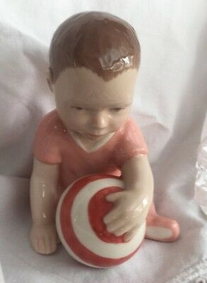 Figurine ROYAL COPENHAGEN Baby Girl Sitting with ball  Denmark