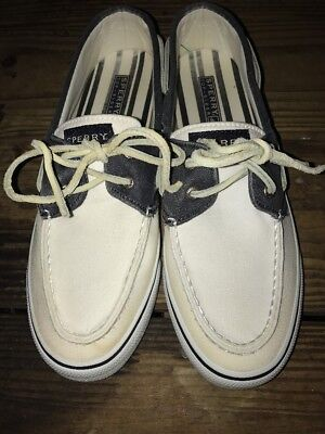 Womens Size 8M White Casual Sperry Top Sider Slip On Boat Shoes