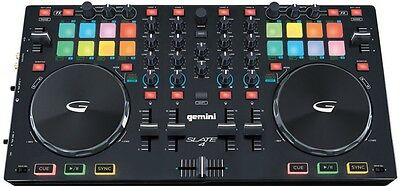 Gemini Slate 4 Channel DJ Controller Live Mixing RRP *$369* BNIB MUST SEE!!!!!!!