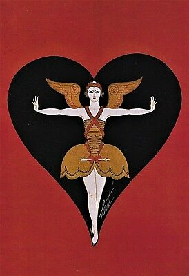 Erte - ANGEL Cupid Costume from Scandal's Play Vintage MATTED 1978 Print