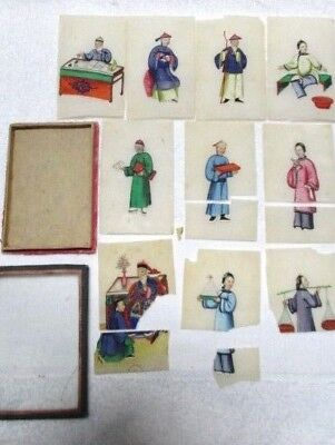 Antique Chinese Rice Paper miniature paintings ca 1900