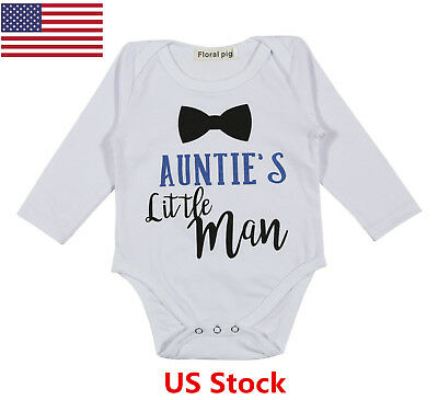 US Newborn Girl Infant Romper Letter Bow-tie Bodysuit Jumpsuit Outfits Sunsuit