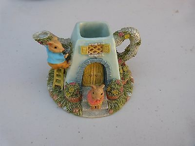 Collectable Ornament Figurine Mouse Teapot House - Exc Condition
