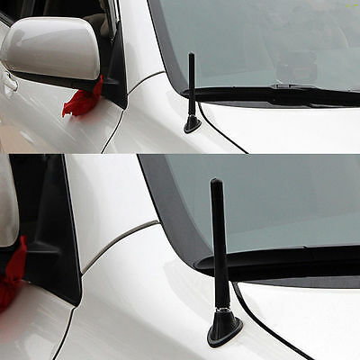 Car Antennas Carbon Fiber FM AM Radio Aerial Antennas & Screw  Kits Non-rust HOT
