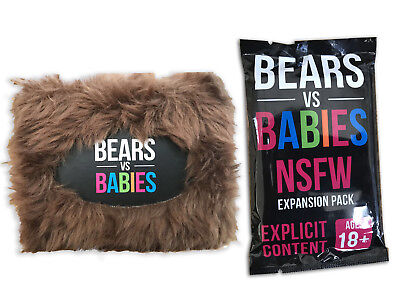 Bears vs Babies Core Deck + NFSW | Core | NFSW Expansion Board Game Party Game