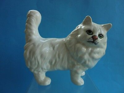 Vintage Beswick Cat White Persian Standing - Perfect