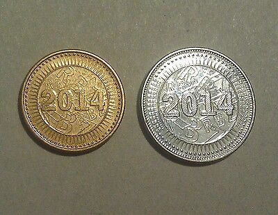 Zimbabwe BOND coins 10 cents & 25 cents 2014 reserve currency money