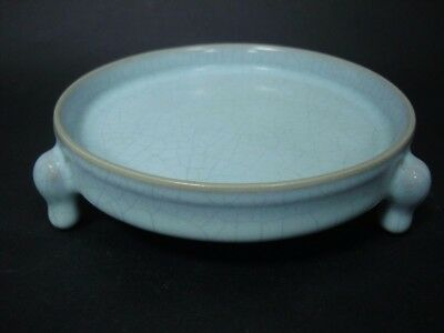 Rare Old Chinese Ru Kiln Celadon Porcelain Brush Washer Pot Collection