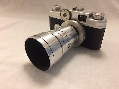 Vintage Argus C-44 35mm Camera With 100mm Lens -used-