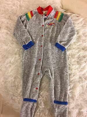 Vintage Vtg 70s 80s Carters Baby Footed Sleeper USA Large 19-27 Pounds
