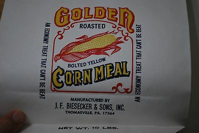 Lot of 2 - Golden Roasted Bolted Yellow Corn Meal - 10 lb Bags -Thomasville PA
