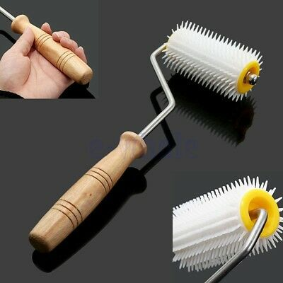 Extrait miel abeille Uncapping Needle Roller Plastic Beekeeping Comb Tool KK