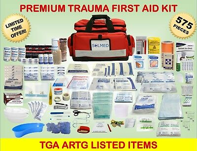 575pc PARAMEDIC/EMERGENCY FIRST AID KIT SURVIVAL, REMOTE, MEDICAL INJURIES