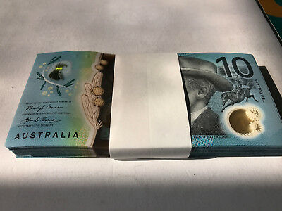 2017 Reserve Bank of Australia Lowe/Fraser $10 Polymer Note - Uncirculated