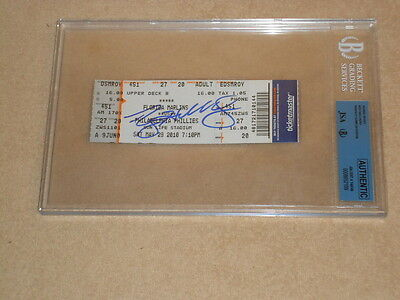 Roy Halladay JSA /BGS Signed  Perfect Game Ticket