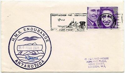 Antarctic Ship Endurance Signed Isacke 1973 Royal Wedding Portsmouth Naval Port
