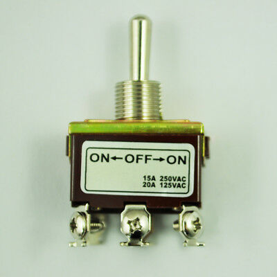 20x(DPDT On/Off/On 3 Position 6 Screw Terminals  Toggle Switch AC 250V 15A V6A2