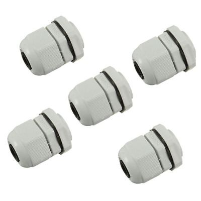 20x(5 x M20 20mm White Waterproof Compression Cable Stuffing Gland Lock W2O8