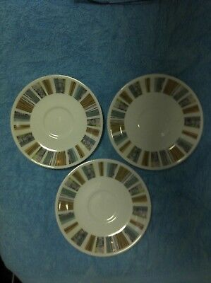 Vintage Alfred Meakin England Glo White Saucer x 3 Replacement