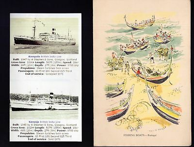 Shipping Transport S.S. Kampala menu 1966 see scans x3