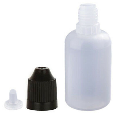 50Pcs 30ML Plastic Dropper Squeezable Bottles  Liquid Child Proof Safe LDPE
