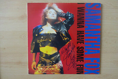 "Samantha Fox Autogramm signed LP-Cover ""I Wanna Have Some Fun"" Vinyl"