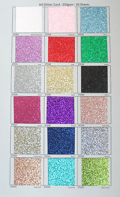 A4 AND A5 Glitter and Pearlised Card 250gsm sold in pack 10