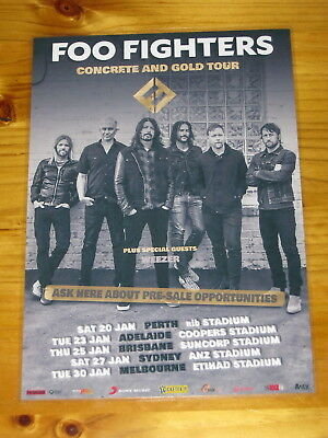 FOO FIGHTERS - 2018  AUSTRALIA TOUR - CONCRETE AND GOLD  Laminated Tour Poster