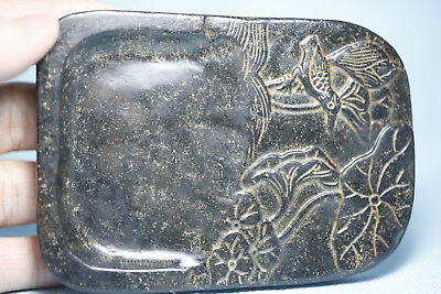 Chinese jade carving carved Chinese jade design flowers and birds Yan T246