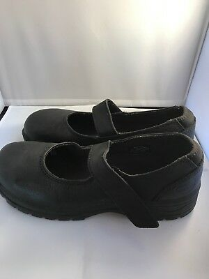 OLIVER FOOTWEAR Womens Black Steel Cap Mary Janes Shoes Size 41