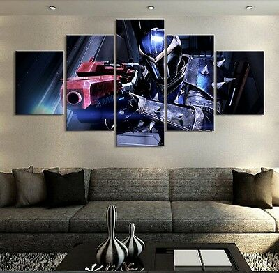 5PCS MASS EFFECT Games Painting Picture Modern Canvas Wall Art ...