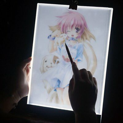 LED A4 Tracing Light Box Board Artist Tattoo Drawing Pad Table Stencil Display